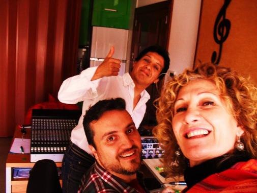 SERGIO NÚÑEZ, SENSI FALÁN y CHOCHI DURÉ El primer tema del disco!