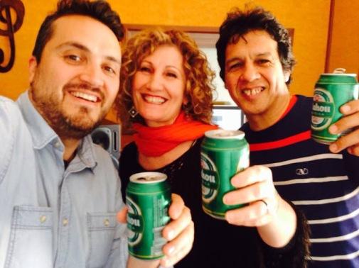 SERGIO NÚÑEZ, SENSI FALÁN y CHOCHI DURÉ Grabando!