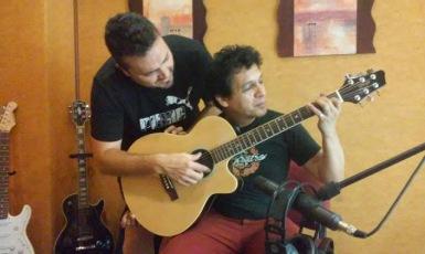 SERGIO NÚÑEZ y CHOCHI DURÉ Probando sonido